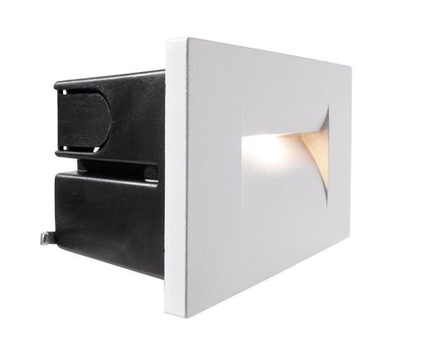 Deko-Light Wandeinbauleuchte, Yvette I W, Aluminium Druckguss, weiß, Warmweiß, 22°, 3W, 230V