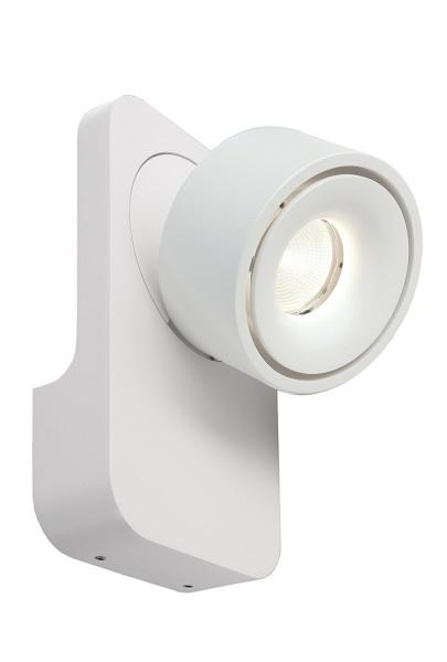 Deko-Light Wandaufbauleuchte, Uni II, Aluminium Druckguss, weiß, Warmweiß, 35°, 9W, 230V, 120x95mm