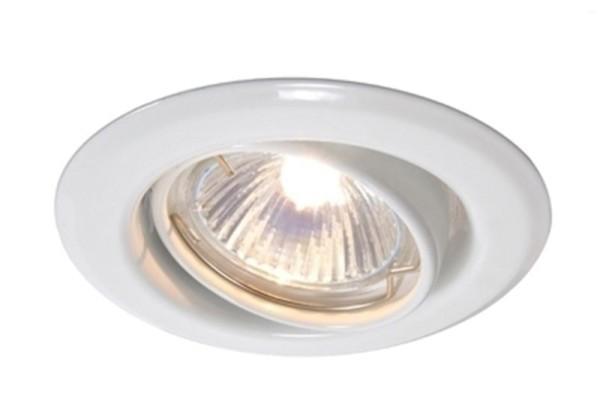 Deko-Light Deckeneinbauring, Metall, weiß, 50W, 12V