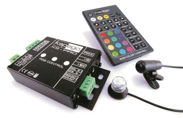 KapegoLED Controller, XS-Pro RGB Color, spannungskonstant, dimmbar: IR-Fernbedienung, 12-24V DC, 360