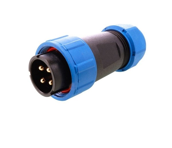 Deko-Light Kabelsystem, Weipu Stecker 4-polig, Kunststoff, 24V