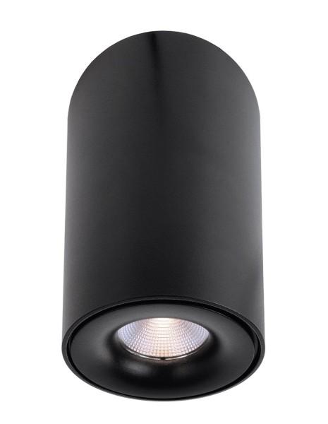 Deko-Light Deckenaufbauleuchte, Bengala LED, Aluminium Druckguss, schwarz, Warmweiß, 48°, 9W, 230V