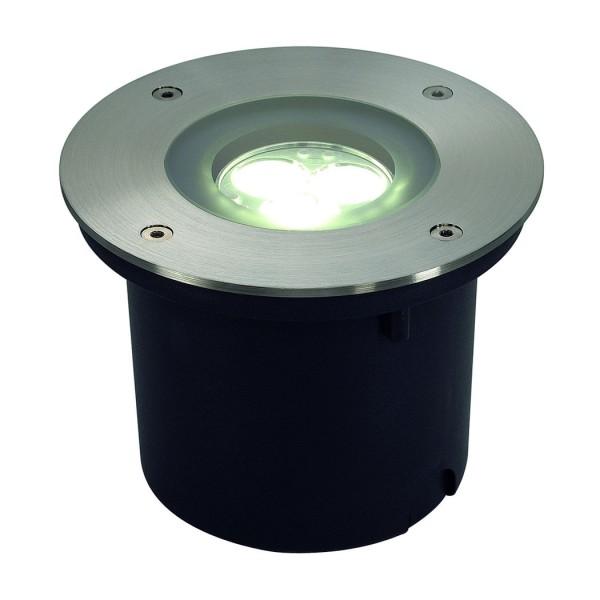 WETSY POWER LED Einbauleuchte, rund, Edelstahl 316, 3x1W, weiss, IP67