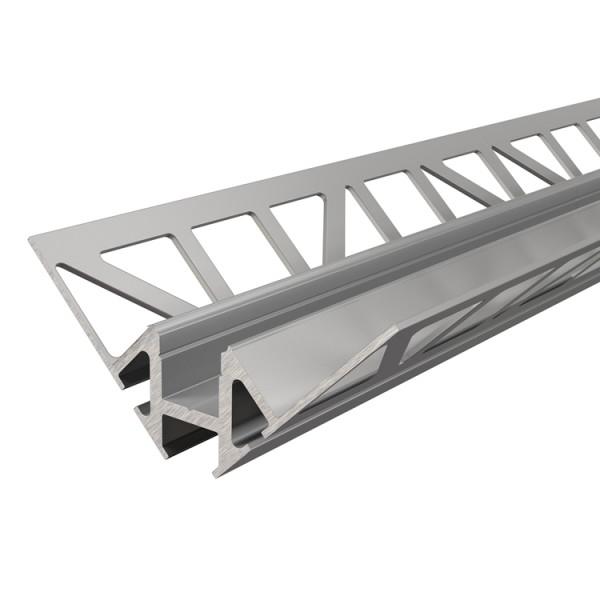 Reprofil, Fliesen-Profil Ecke innen EV-01-08 für LED Stripes bis 9,3 mm, Silber-matt, eloxiert