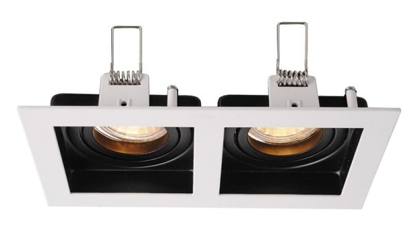 Deko-Light Deckeneinbauring, Algol II, Aluminium Druckguss, schwarz / weiß, 35W, 12V, 185x100mm