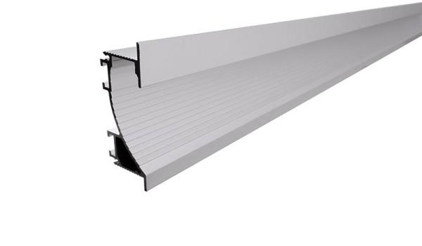 Reprofil Profil, Trockenbau-Profil, Wandvoute EL-02-12, Aluminium, Silber-matt eloxiert, 2000mm