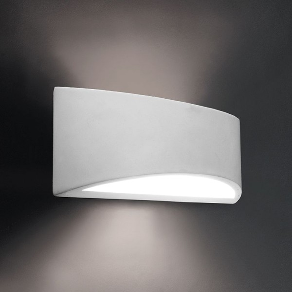 Deko-Light Wandaufbauleuchte, Arianna, Gips, weiß überstreichbar, 80W, 230V, 300x95mm
