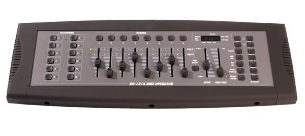 GLT Controller, DMX DC-1216, Kunststoff, Schwarz-matt, 230V, 482x131mm