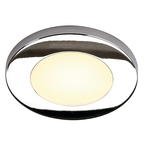 REAL N-TIC LED Downlight, rund, klein, chrom, 2,8W, 6 SMD LED, warmweiss, 3200K
