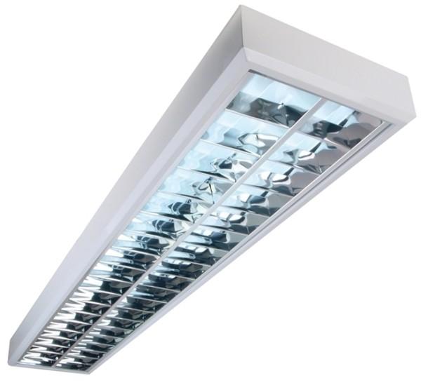 Deckenaufbauleuchte, Aufbaurasterleuchte Raster darklight, 220-240V AC/50-60Hz, G13 / T8, 58,00 W