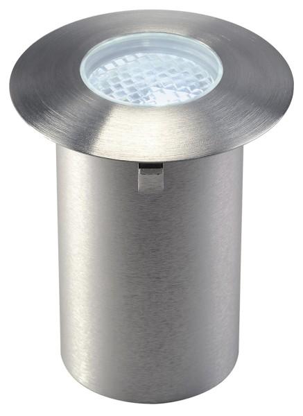 TRAIL-LITE 60, Outdoor Bodeneinbauleuchte, LED, 6500K, edelstahl 316, Diffusor facettiert, IP65