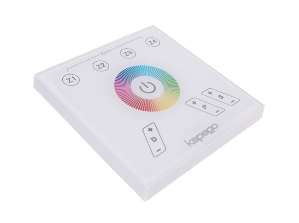 Deko-Light Controller, Touchpanel RF Color, Kunststoff, Weiß, Blau, 2W, 230V, 87x87mm