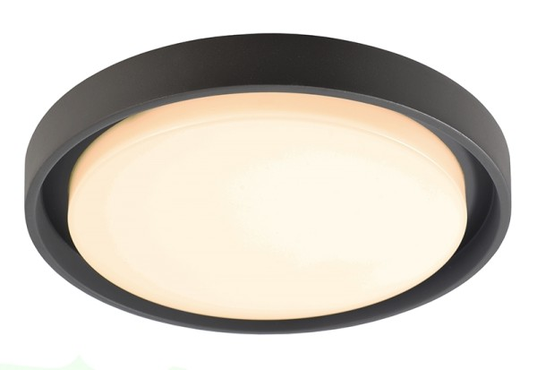 Deko-Light Deckenaufbauleuchte, Ascella, Aluminium Druckguss, dunkelgrau, Warmweiß, 113°, 27W, 230V