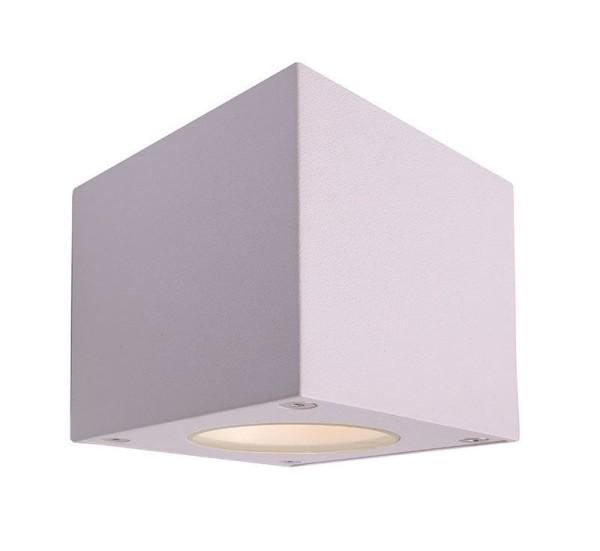Deko-Light Wandaufbauleuchte, Cubodo W, Aluminium Druckguss, weiß, Warmweiß, 80°/40°, 5W, 230V