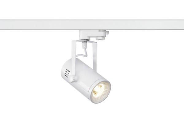 EURO SPOT, Spot für Hochvolt-Stromschiene 3Phasen, LED, 3000K, rund, weiß, H/Ø 19,2/8 cm, 36°