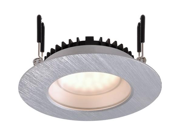 KapegoLED Deckeneinbauleuchte, Arae, inklusive Leuchtmittel, Silber, gebürstet, Warmweiß, EEI: A
