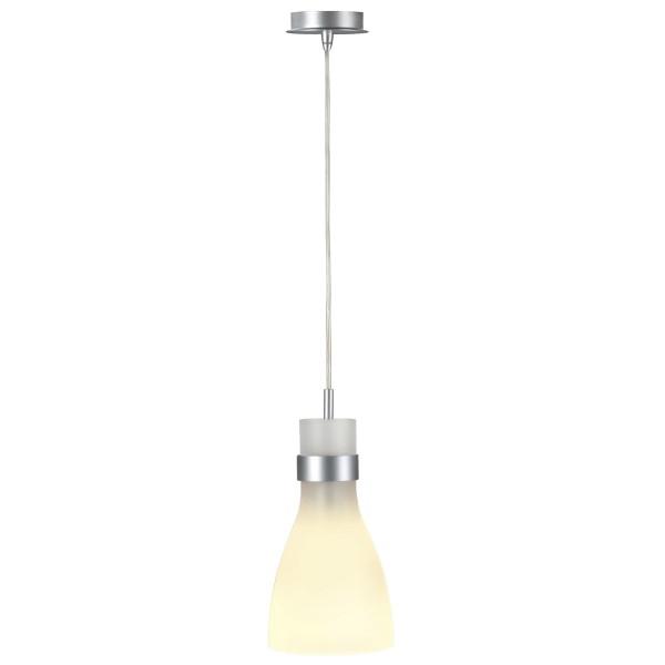 BIBA, Pendelleuchte für Hochvolt-Stromschiene EASYTEC II, C35, silbergrau, Glas satiniert, max. 60W