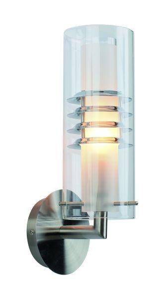 Wandleuchte Rondas, chrom, Glas klar, E14,230 Volt, max. 40 Watt, exkl. Leuchtmittel