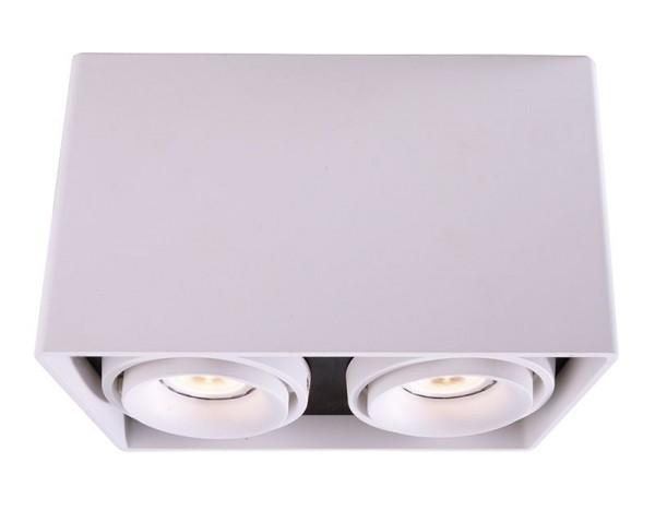 Deko-Light Deckenaufbauleuchte, Mona II, Aluminium Druckguss, weiß, 50W, 230V, 186x93mm