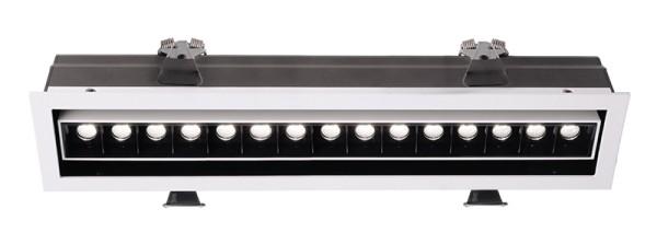 Deko-Light Deckeneinbauleuchte, Ceti 15 Adjust, Aluminium Druckguss, weiß matt, Warmweiß, 45°, 30W