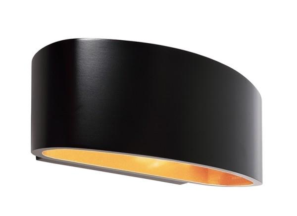 Deko-Light Wandaufbauleuchte, Arietis, Aluminium Druckguss, schwarz, 42W, 230V, 170x85mm