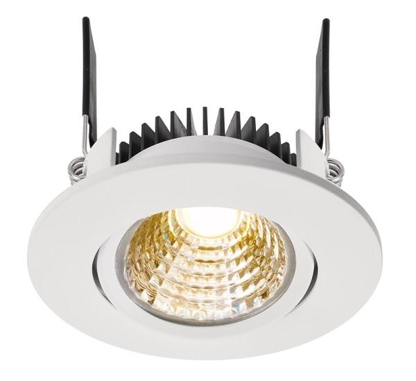 Deko-Light Deckeneinbauleuchte, COB-68-350mA-2700K-rund, Aluminium, weiß, Warmweiß, 45°, 6W, 16-17V