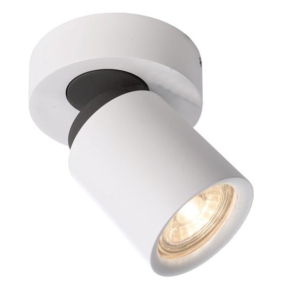 Deko-Light Deckenaufbauleuchte, Librae Round I, Aluminium, weiß matt, 50W, 230V