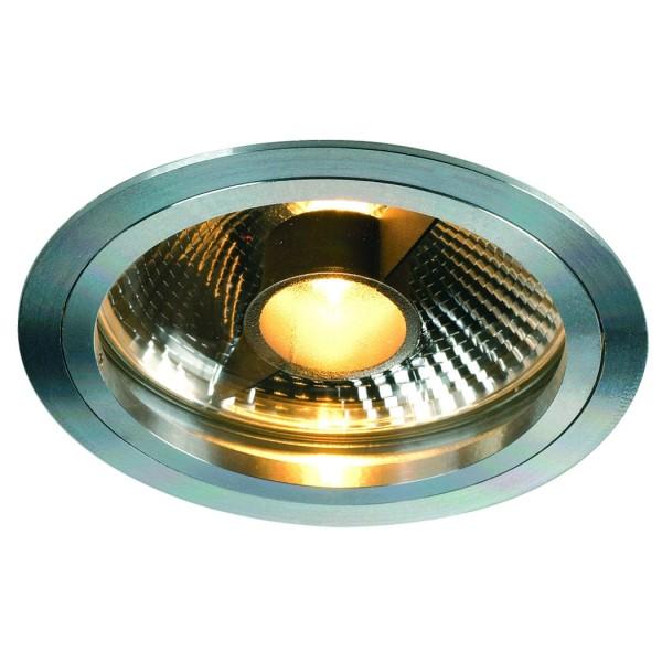 SLIM ES111 Downlight, rund, alu eloxiert, max. 75 W