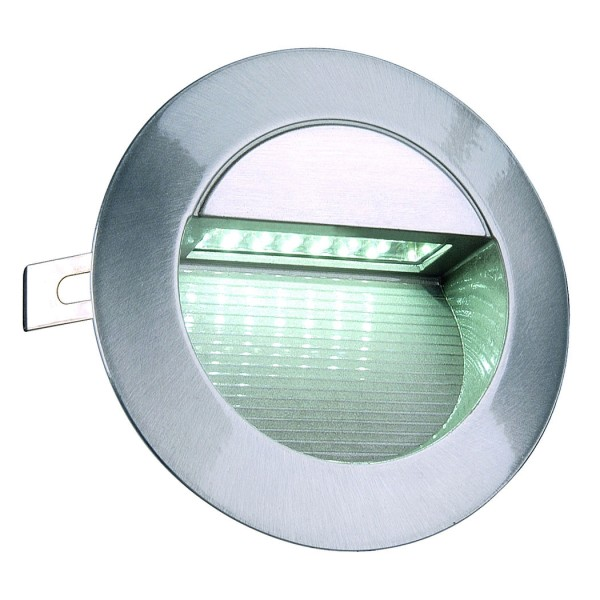 DOWNUNDER LED 14 Wandleuchte, alu brushed, 0,8W, weiss, IP44