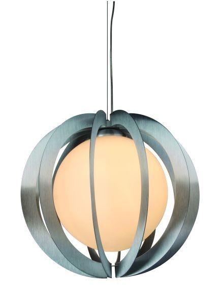 Hängeleuchte Vantalle, Alu, Glas weiß, 230V, E27, max.1x 60W, exkl. Leuchtmittel