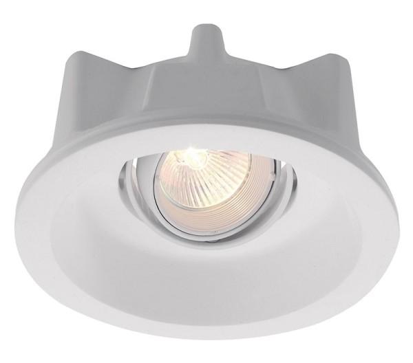Deko-Light Deckeneinbauring, Gips, weiß, 50W, 12V