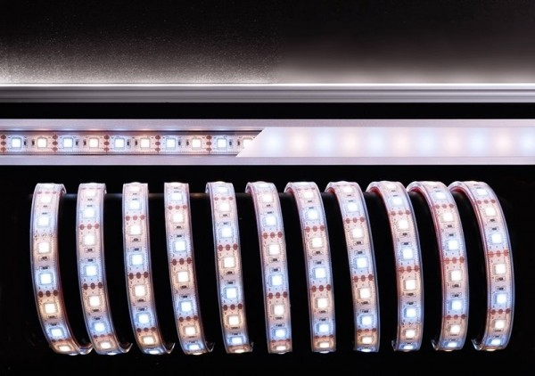 Deko-Light Flexibler LED Stripe, 5050-60-12V-3000K+6500K-5m, Kupfer, Weiß, Warmweiß + Kaltweiß, 120°