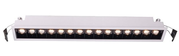 Deko-Light Deckeneinbauleuchte, Ceti 15, Aluminium Druckguss, weiß matt, Warmweiß, 45°, 30W, 44-45V