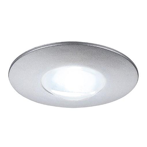 DEKLED Einbauleuchte, rund, silber metallic, 1W LED, weiss, 5300K