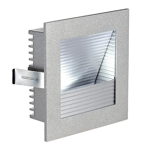 FRAME CURVE LED einbauleuchte, eckig, silbergrau, weisse LED