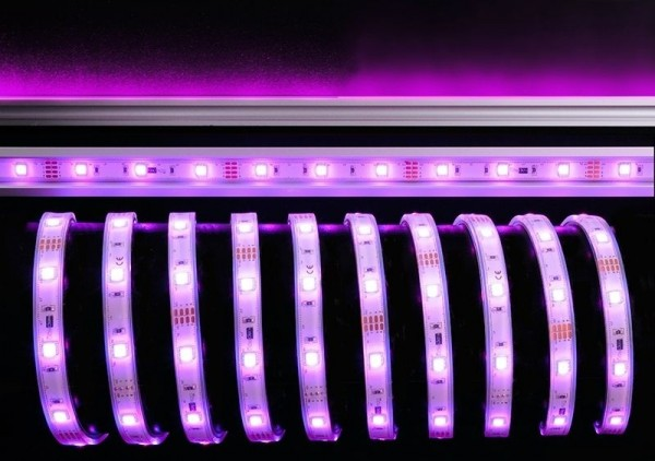 Deko-Light Flexibler LED Stripe, 5050-30-12V-RGB-5m-Silikon, Kupfer, Weiß, RGB, 120°, 22W, 12V