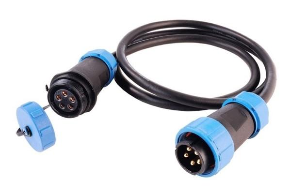 Deko-Light Kabelsystem, Weipu Verbindungskabel 5-polig, Kunststoff, 24V, 5000mm