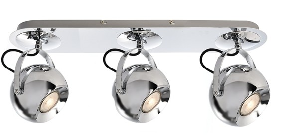 Deko-Light Deckenaufbauleuchte, Centauri III, Aluminium, silberfarben Chrom, 50W, 230V, 570x130mm