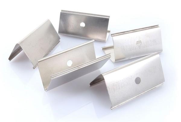 Deko-Light Zubehör, Befestigungsclips 5er Set für C04, Metall, Silber, 40x20mm