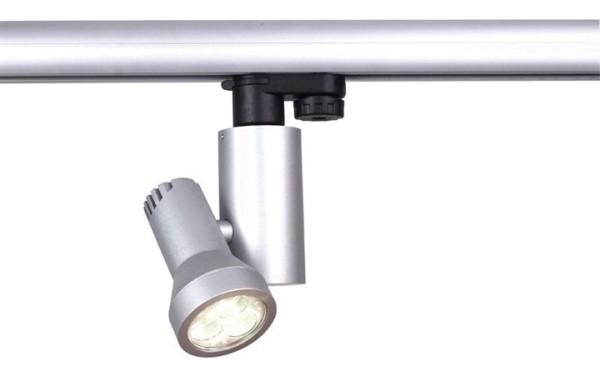 KapegoLED Schienensystem 3-Phasen 230V, Brazo, inklusive Leuchtmittel, Kaltweiß, Silber-matt, 9,00 W