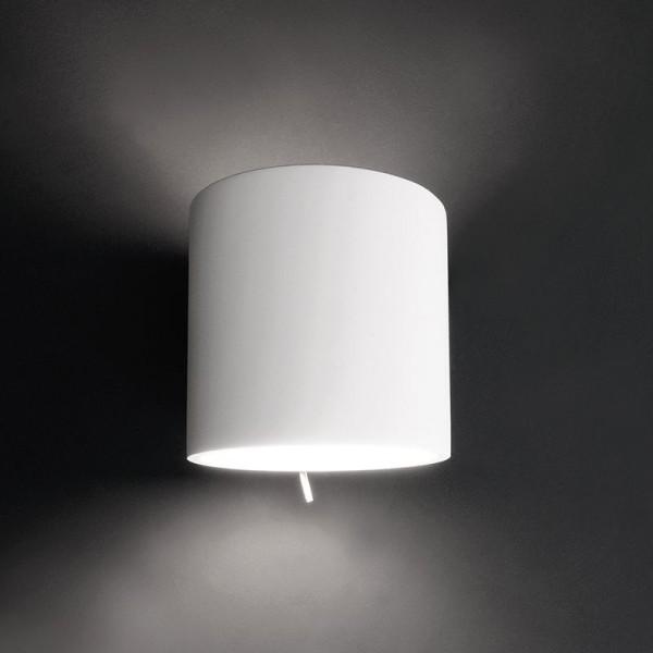 Deko-Light Wandaufbauleuchte, Gabi, Gips, weiß überstreichbar, 60W, 230V