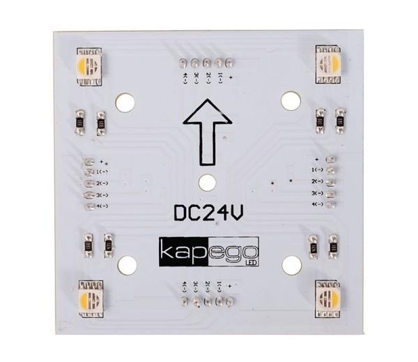 Deko-Light Modular System, Modular Panel II 2x2 RGB + 3000K, Aluminium, Weiß, RGB + Warmweiß, 120°