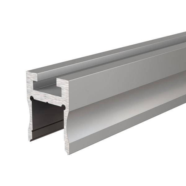 Reprofil, Nuten-Profil, U-hoch AU-03-12 für LED Stripes bis 13,3 mm, Silber-matt, eloxiert, 2000 mm