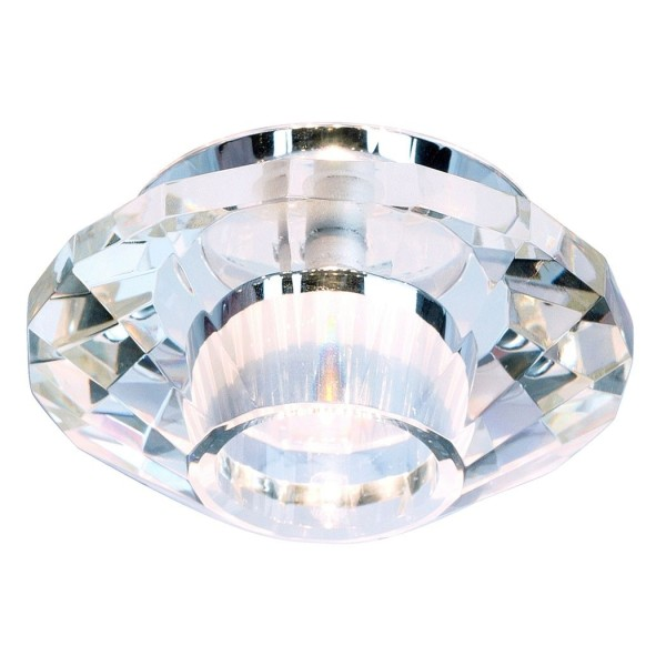 CRYSTAL VII Downlight, chrom/ Kristall klar, G4, max. 20W