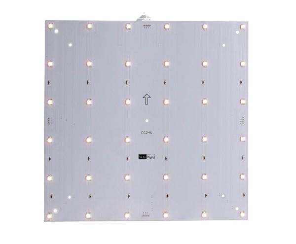 Deko-Light Modular System, Modular Panel II 6x6, Aluminium, Weiß, Warmweiß, 120°, 8W, 24V, 265x265mm