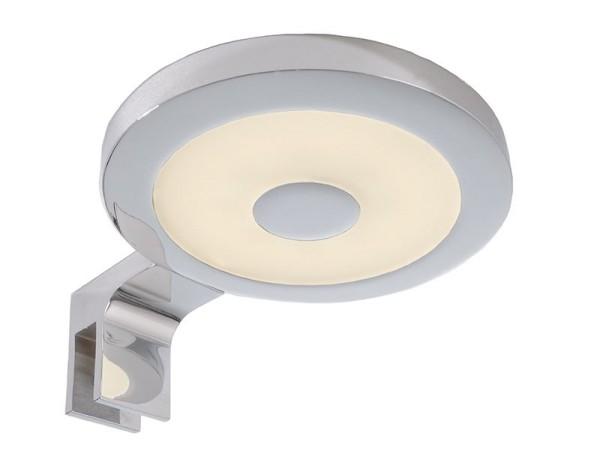 Deko-Light Möbelaufbauleuchte, Spiegel Rund II, Aluminium, silberfarben Chrom, Warmweiß, 120°, 4W