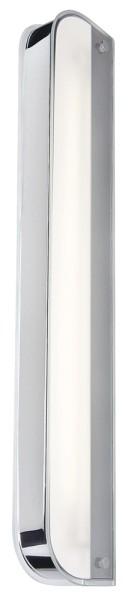 BOWTOW GLASS, Wandleuchte, Regalleuchte, T16, IP21, chrom, Glas satiniert, max. 24W