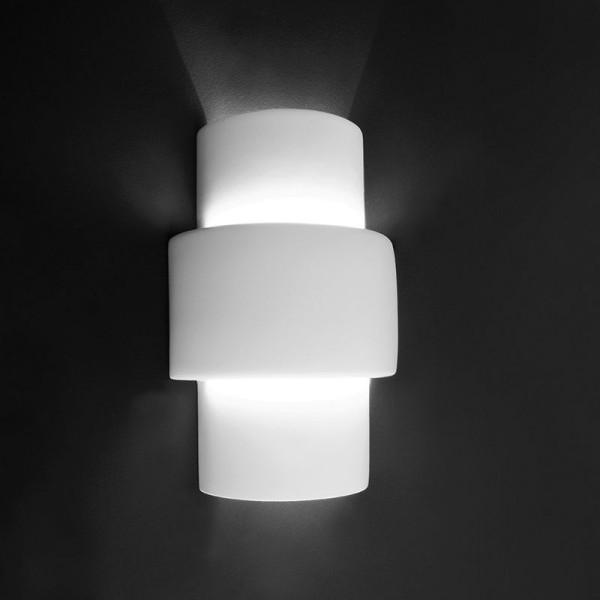 Deko-Light Wandaufbauleuchte, Tacon, Gips, weiß überstreichbar, 40W, 230V, 295x95mm