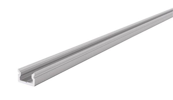 Reprofil Profil, U-Profil flach AU-01-05, Aluminium, Silber-matt eloxiert, 1000mm