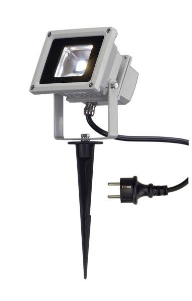 OUTDOOR BEAM, Outdoor Fassadenleuchte, LED, 5700K IP65, silbergrau, 100°, 10W